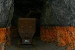 Umbruchstelle mit Ockerschlamm-Ablagerung