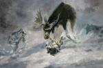 Gegenangriff  Elch und Wölfe