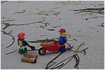 Aufräumarbeiten am Strand