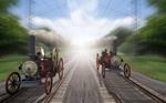 Dampflok-Rennen