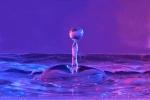 Wassertropfen im Meer