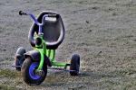 Der Anfang der Mobilität - Das Dreirad wurde vom Frost überrascht
