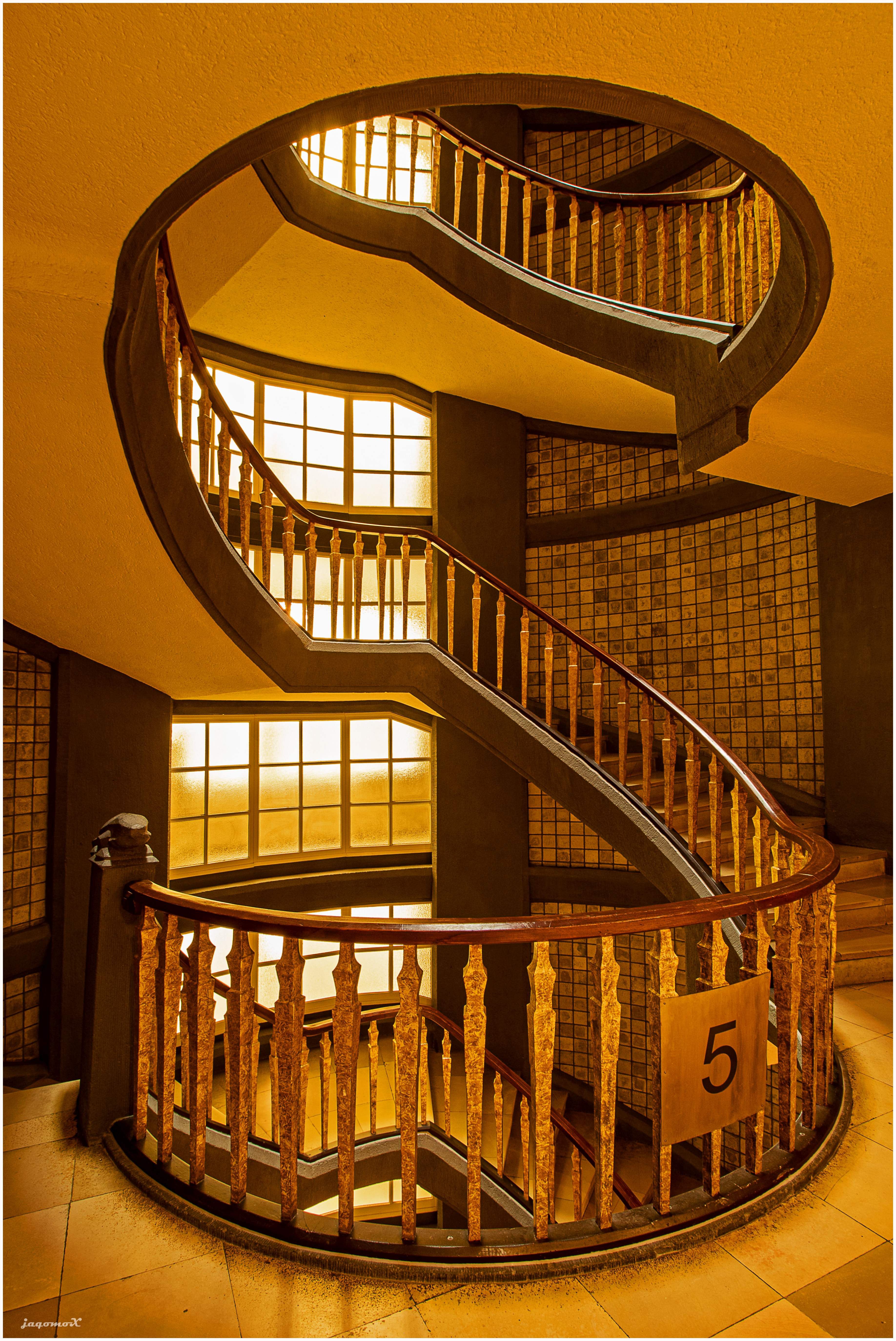 Treppenabsatz im Meßberghof